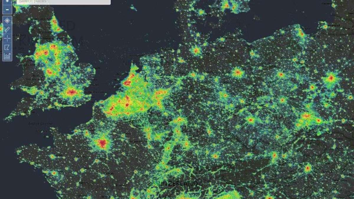 Lichtverschmutzung Karte Welt.Wo Ist Die Nacht Noch Dunkel Eine Webseite Verrat Es Netzwelt