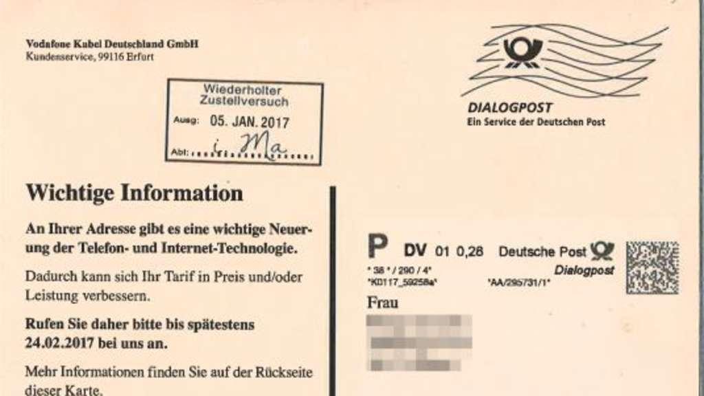 Kritik Vodafone Tarnt Werbung Als Offizielles Schreiben Göttingen