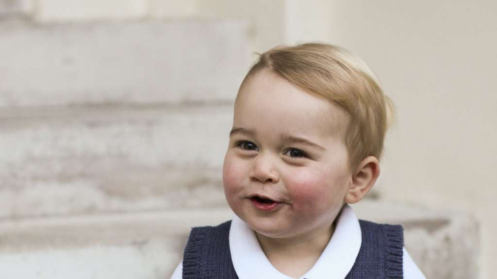 Prince George photos released