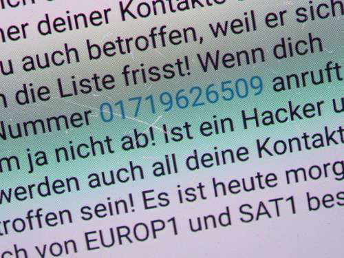 "Whatsapp-Warnung vor ""Tobias Mathis"" - Virus?"