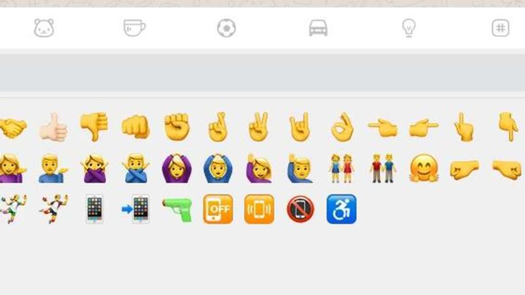 Emoji-Suche in der WhatApp Web-Version.