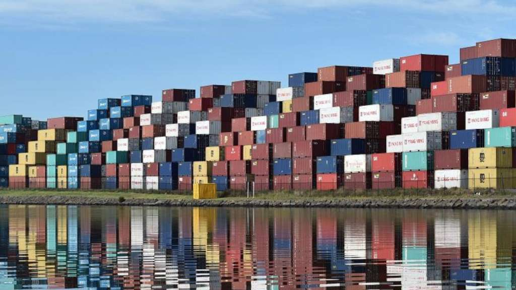 Schiffscontainer in Melbourne. Foto: Julian Smith