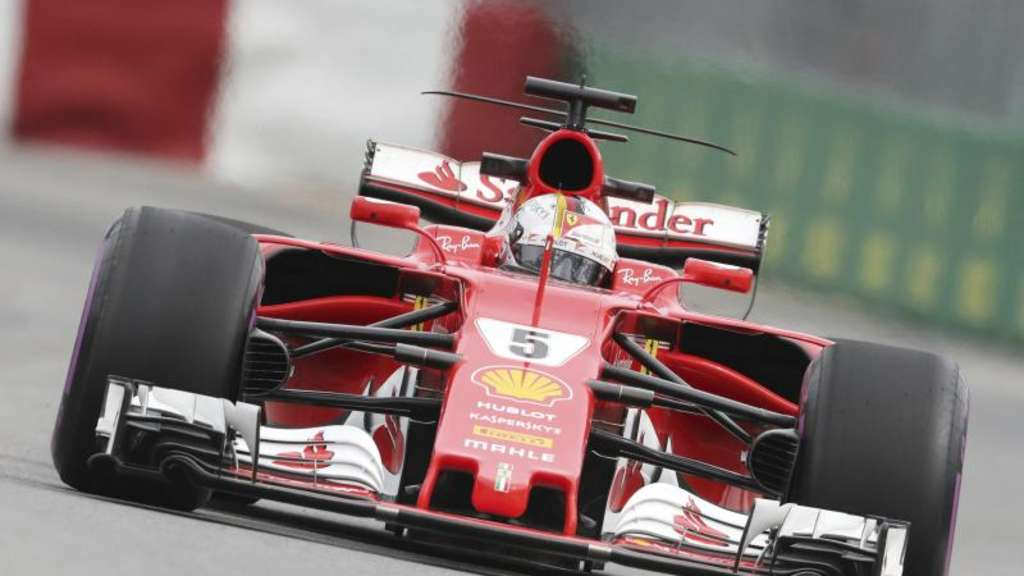 Sebastian Vettel hat gute Aussichten mit seinem Ferrari die Pole Position in Montreal zu holen. Foto: Tim Boland/The Canadian Press/AP
