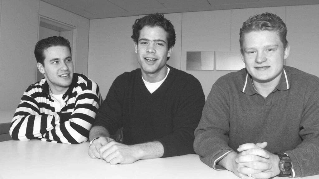 "Die Kasseler ""Boy-Group"": Die Huskies (von links) Thomas Dolak, Niki Mondt und Daniel Kreutzer 1999. Archivfoto: Koch"