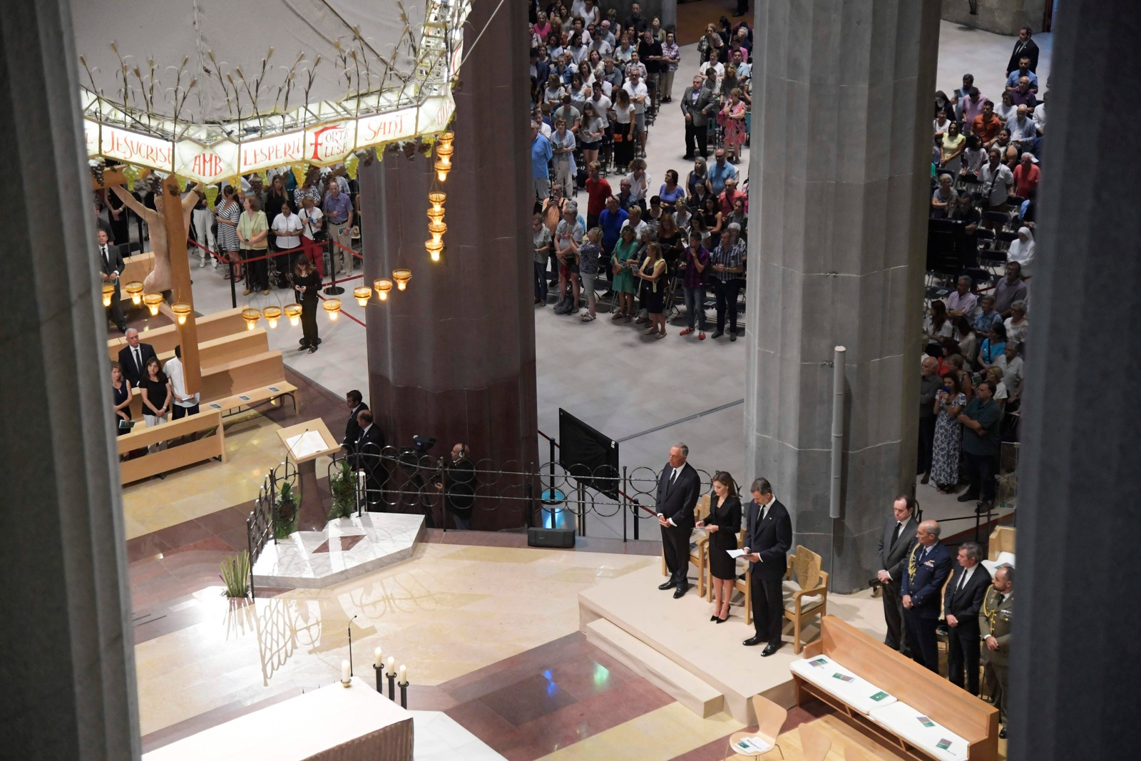 07d94bff6b8bf AFP In Barcelona hat am Sonntagvormittag in der Sagrada Familia die  Trauerfeier für die Opfer des Terror-Anschlags stattgefunden.