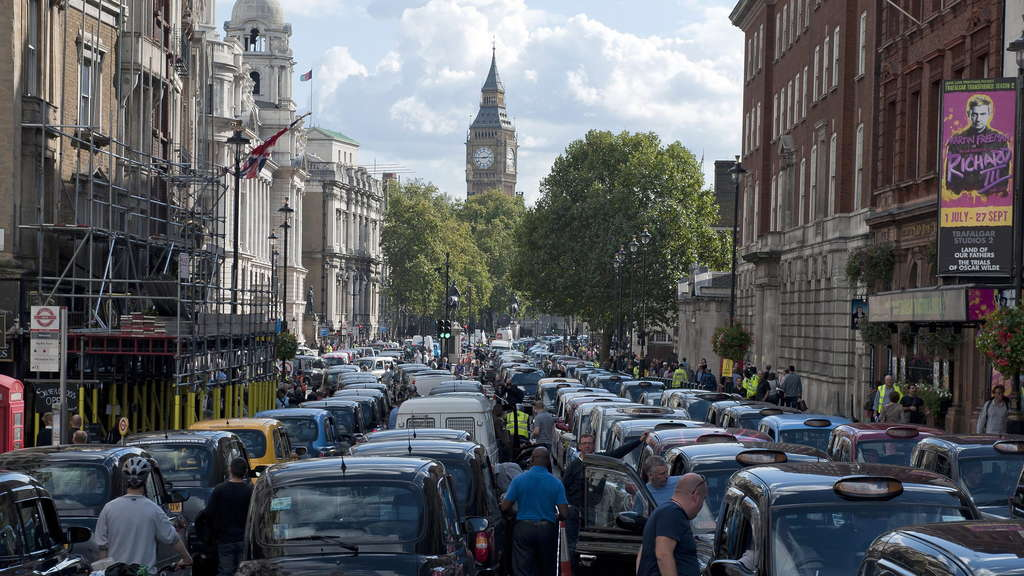 Taxi protest in London