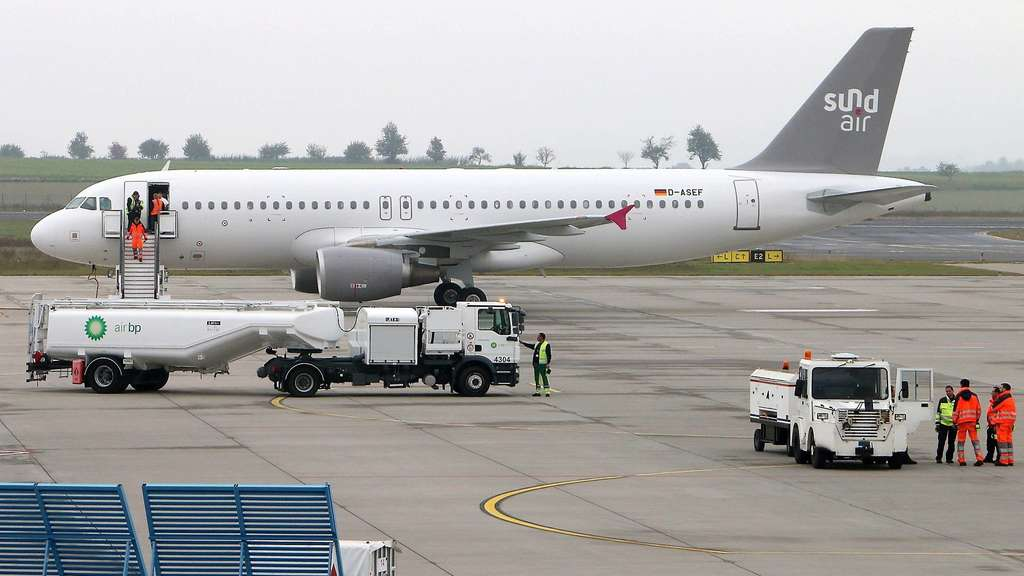 Airbus A320 in Kassel