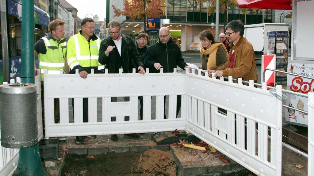 Baufirmen Kassel bauarbeiten auf oberer königsstraße in kassel kommen gut voran