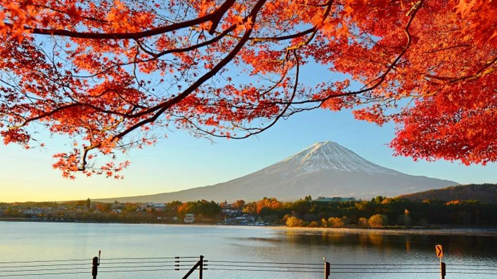 Der Mount Fuji in Japan.