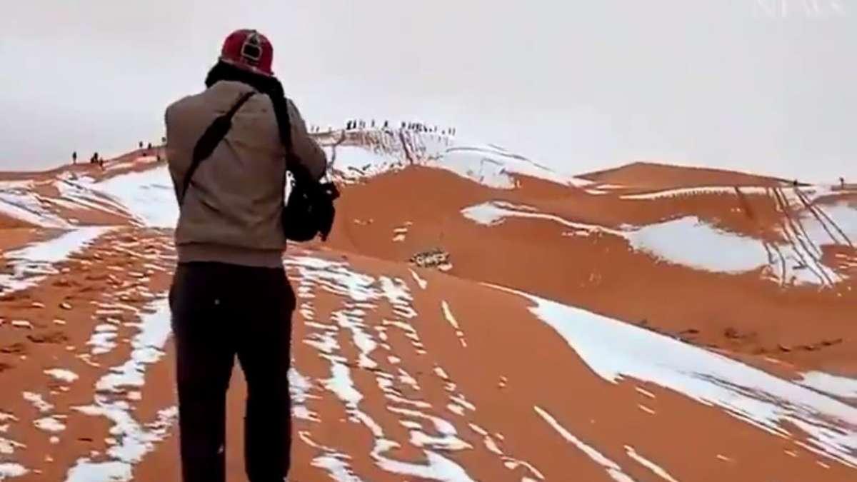Schnee In Der Sahara Es Schneite In Algerien Welt