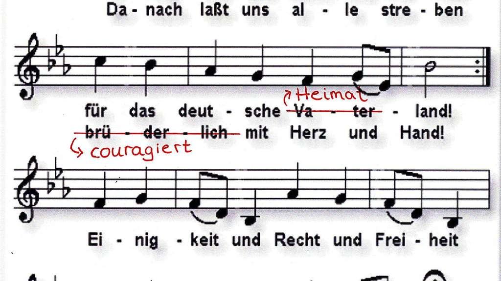 Nationalhymne ändern Was Leser über Den Vorschlag Denken Welt