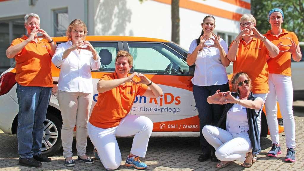 Das Leitungsteam von ascleonCare: Karin Schiele (von links), Elke Phillipp, Heike Huber-Templin, Pflegedirektorin Martina Kraft, Tanja Knobel, Mechthild Hupe und Melanie Erkelenz-Pötter.