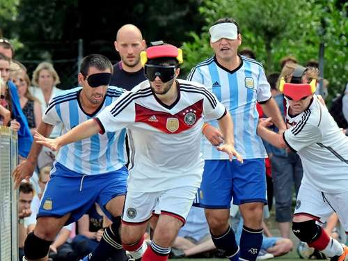 Blindenfußball-Nationalteam mit neuem Bundestrainer in Göttingen