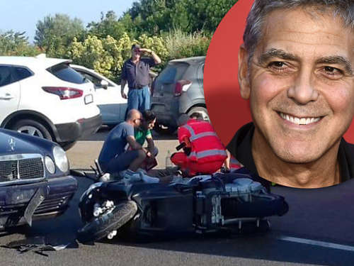Clooneys Roller-Crash im Video: Hollywood-Star hatte riesigen Schutzengel