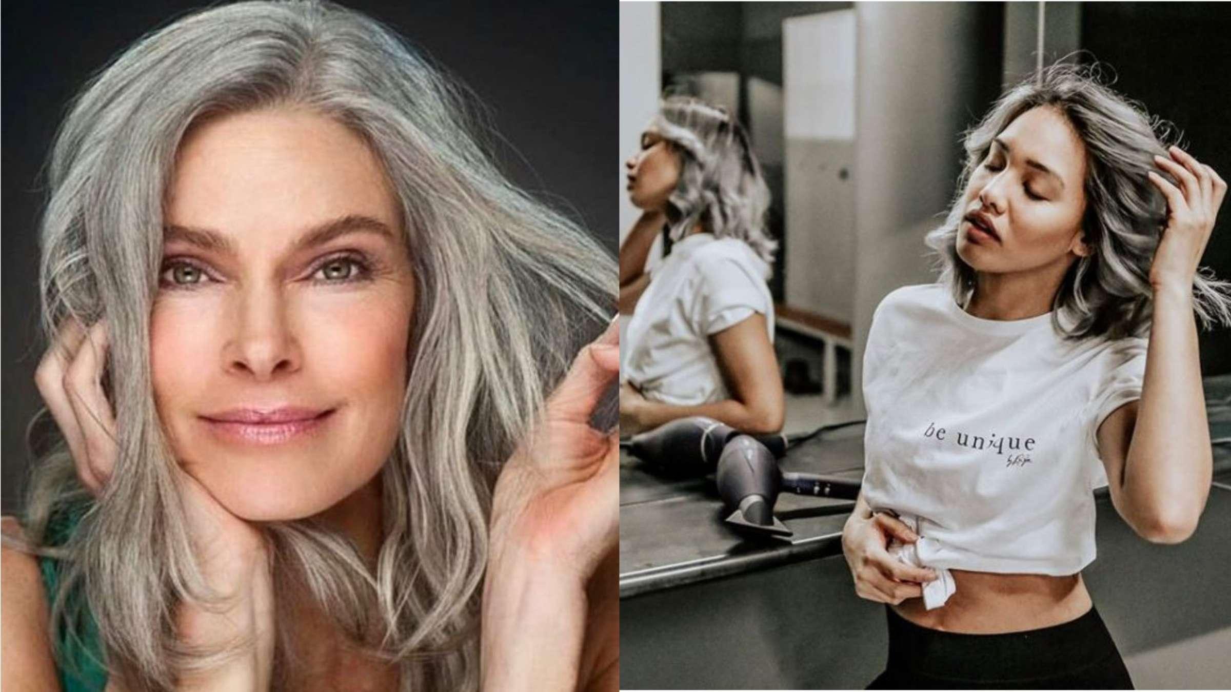Haaren mit grauen ältere frauen 15 besten