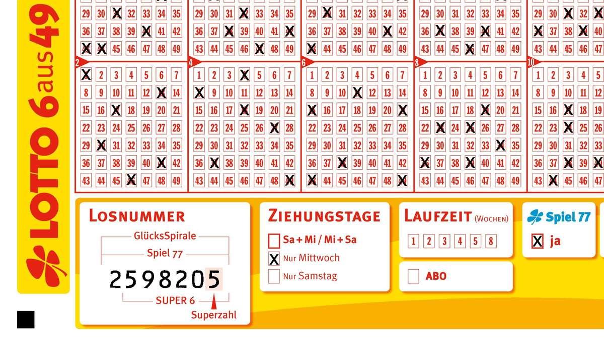 AnnahmeschluГџ Lotto Mittwoch