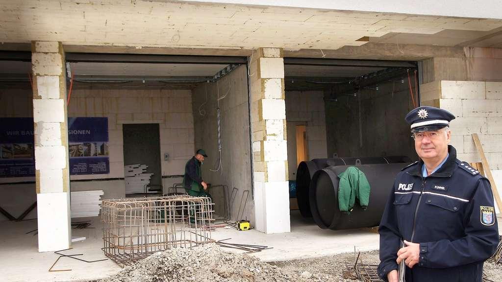 Polizeistation in Melsungen: So sieht es in der Baustelle aus ...