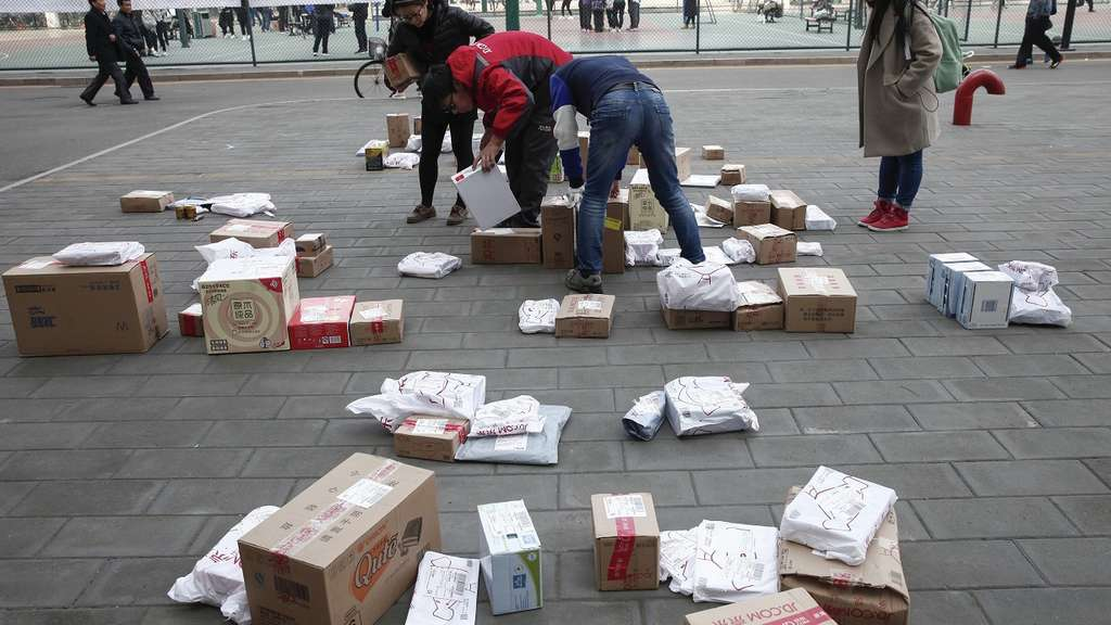 Singles&#39 Day in China.