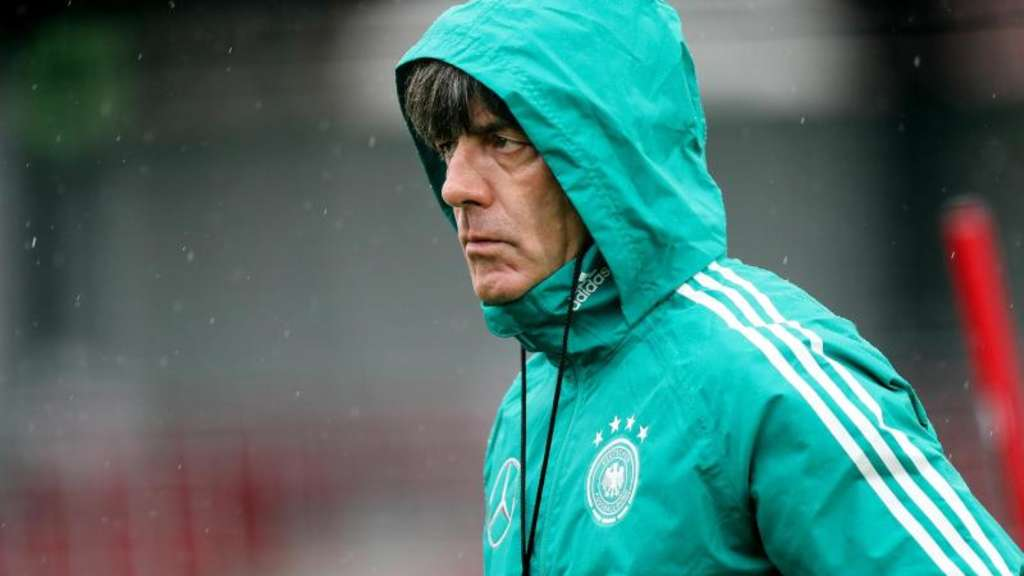 Bundestrainer Joachim Löw beim DFB-Training in Leipzig.