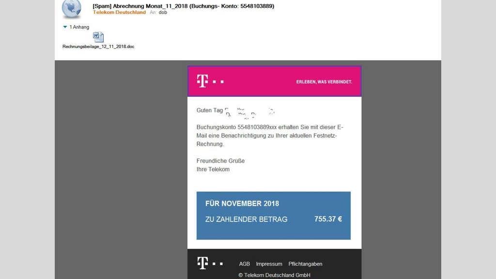 Telekom Spam Erkennen Viren Auf Rechner Und Zugangsdaten Geklaut