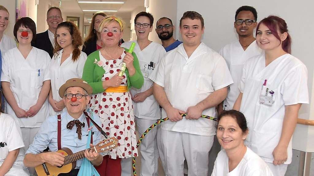 Fritzlar Klinikclowns Schulten Mitarbeiter Des Hospitals Zum