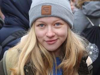 Schülerdemo vor dem RathausKlimaschutzFoto: Schachtschneider