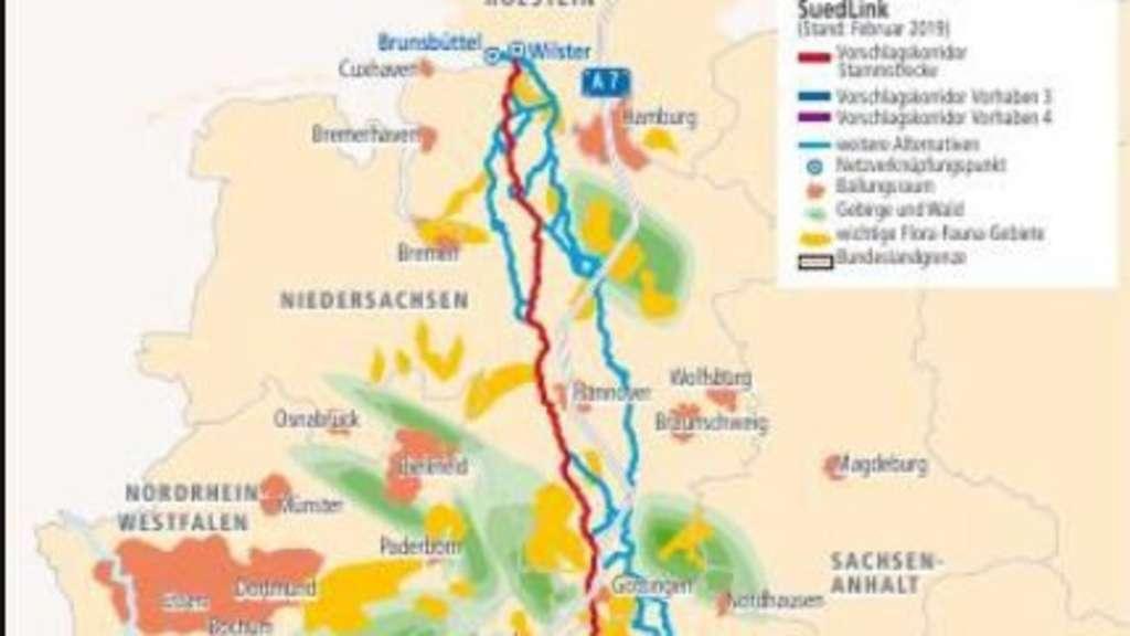Stromtrasse Nord Süd Genauer Verlauf