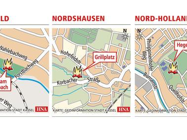 Karte Kassel Und Umgebung.Osterfeuer 2019 Hier Lodern Die Osterfeuer In Stadt Und Kreis