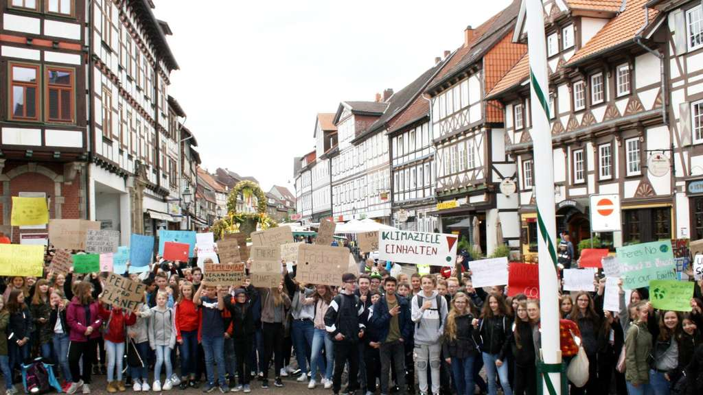 Erste Protestaktion Fridays for Future in Uslar
