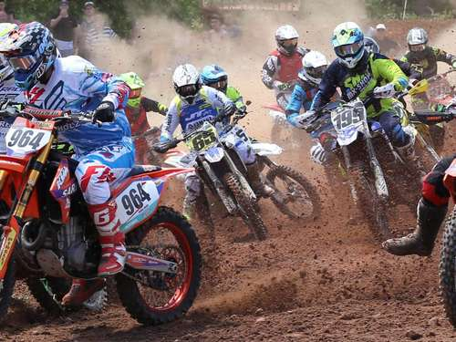 Motorcross: Deutsche Amateurmeisterschaft in Meckbach