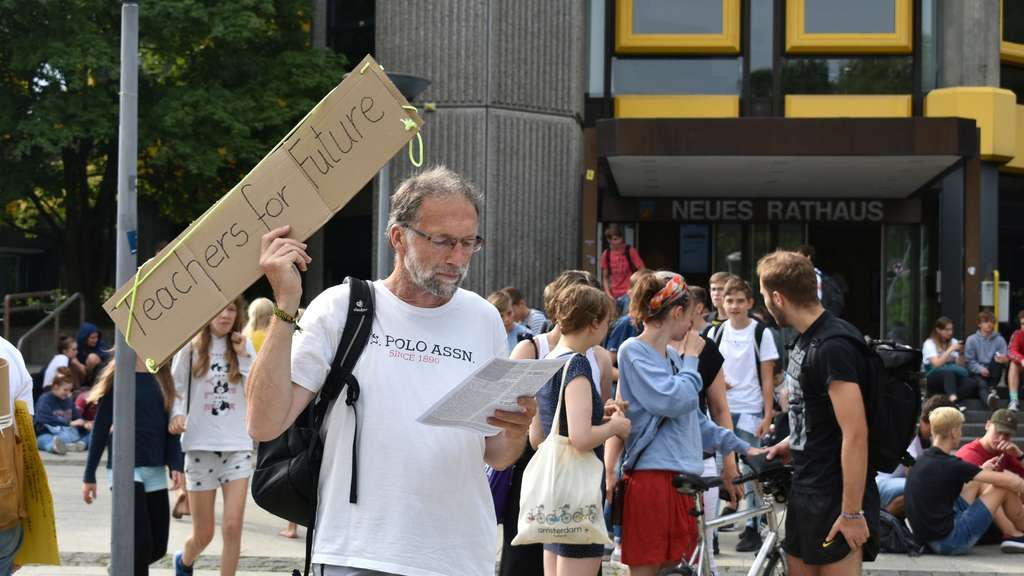 Fridays for Future Demo am 30.08.2019 vor dem neuen Rathaus in GöttingenDemo, Protest, FFF, Fridays, Streik