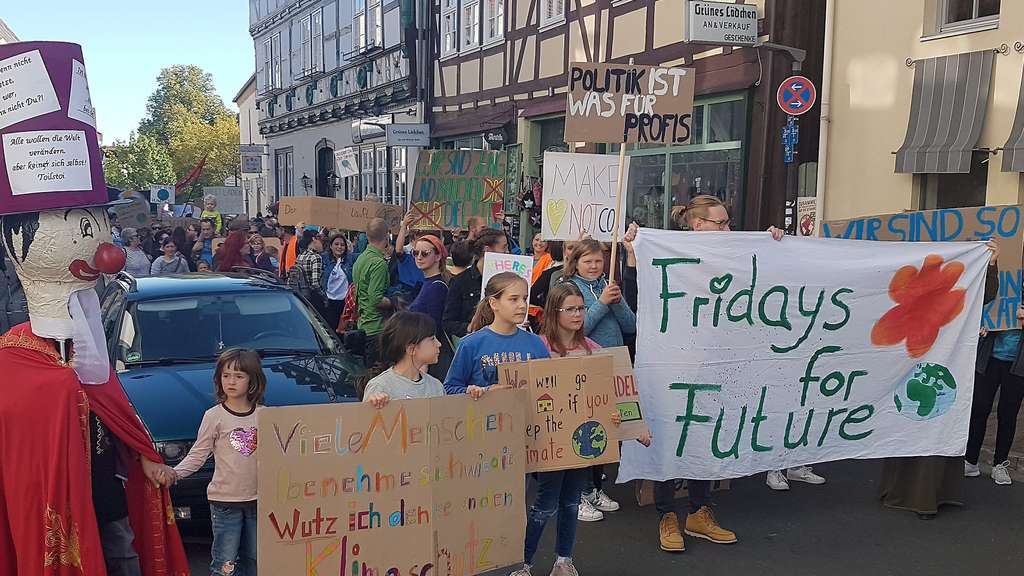 Klima-Demo Klimaschutz Bad Hersfeld, Friday for Future