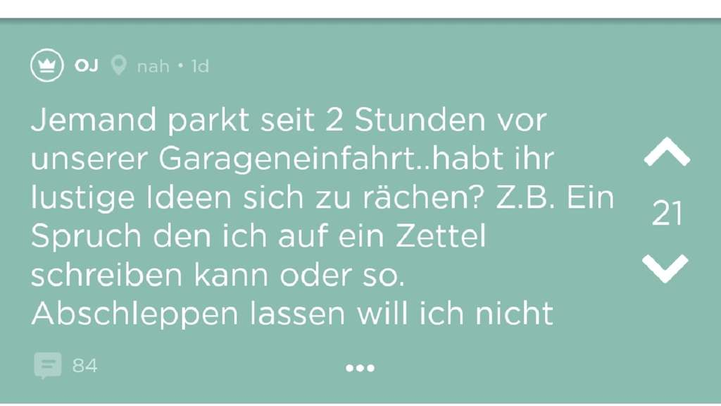 Screenshot Jodel