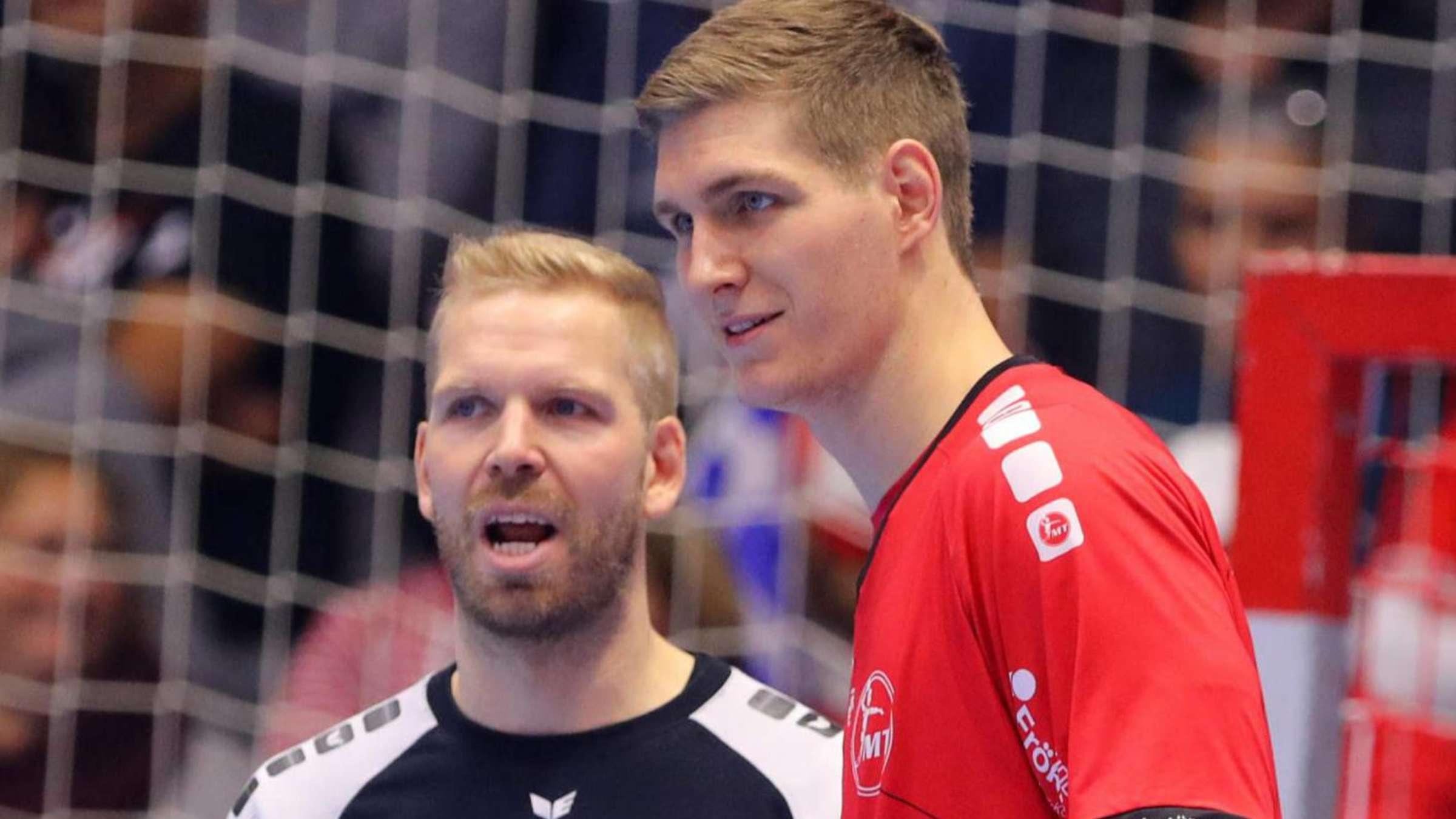 Handball Bundesligist Mt Melsungen Kapitan Finn Lemke Im