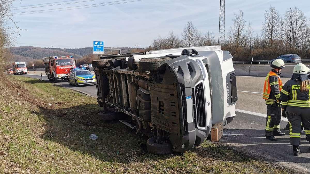 Unfall A7 Bad Hersfeld