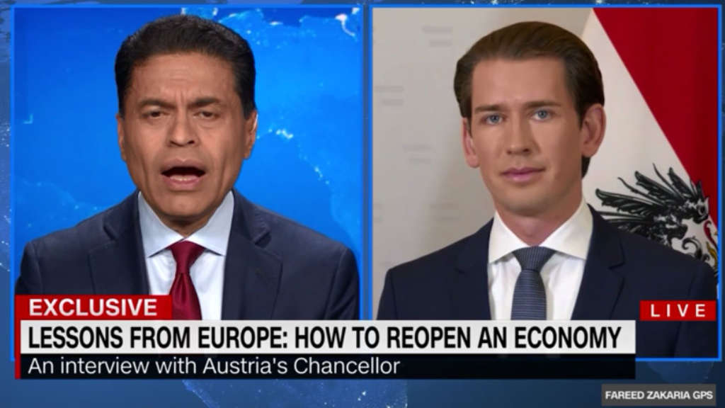 Sebastian Kurz im CNN-Interview.