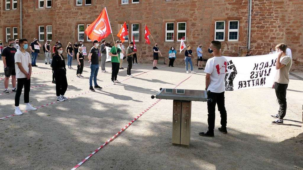 Black Lives Matter: Jugendliche demonstrieren in Frankenberg