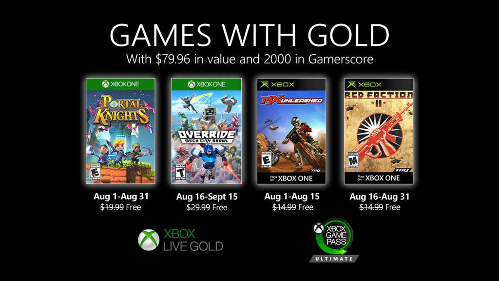 games with gold xbox one xbox360 portal knights override mx red faction