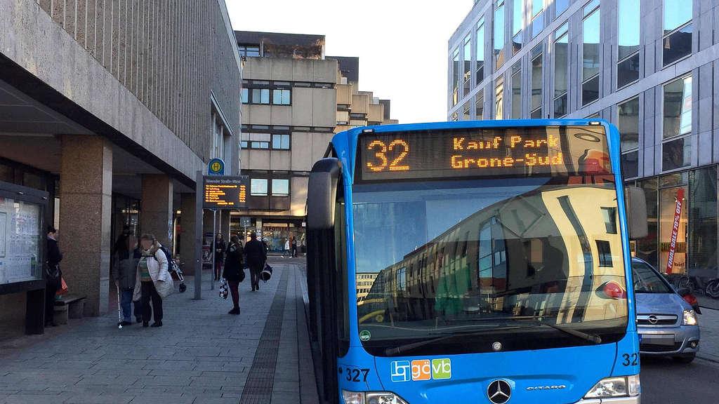 Ein Stadtbus der Göttinger Verkehrsbetriebe