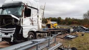 Lastwagen Kippt Bei Heiligenstadt Um A38 Aufahrt Gesperrt Eichsfeld