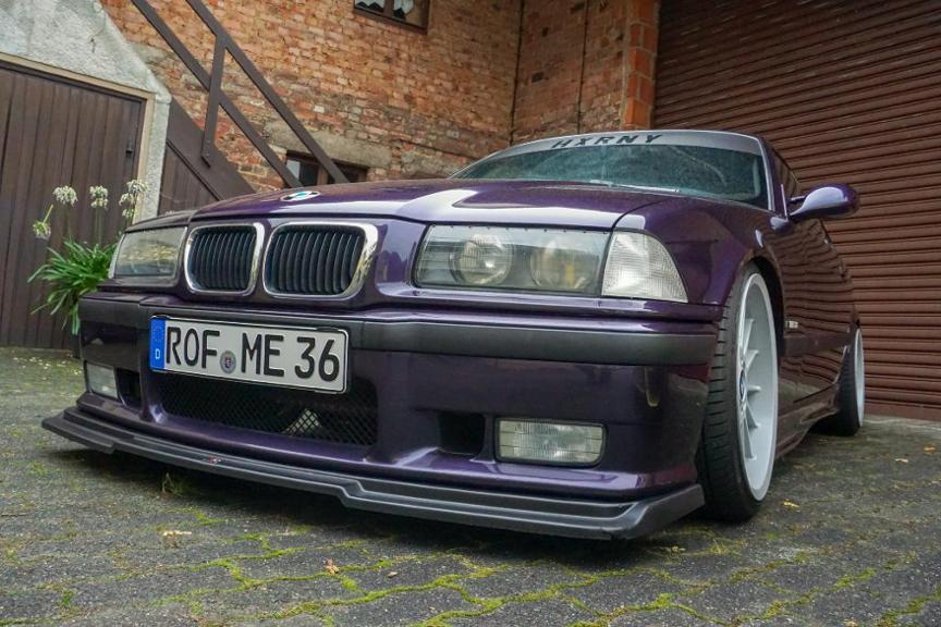 BMW E36 328i in techno-violett-metallic